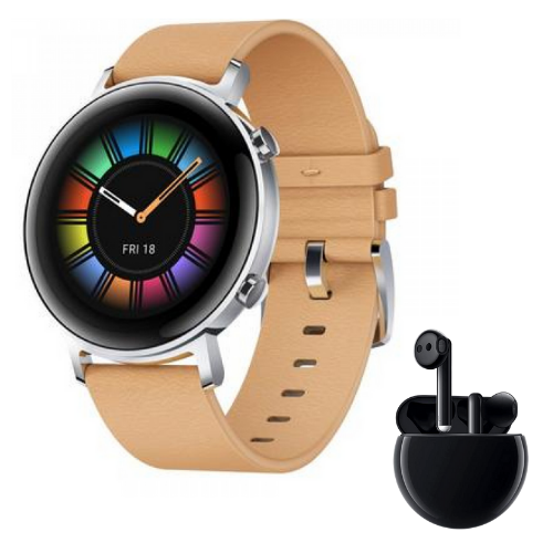 [INN03251] Combo SmartWatch Huawei Watch GT 2 Women Beige Diana 42mm + Audífonos Huawei Freebuds 3