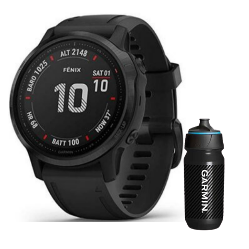 [INN03399] Combo SmartWatch Garmin Fenix 6S Pro + Botella Garmin Carbon 500 ML