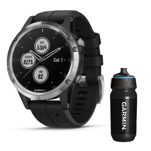 [INN03410] Combo SmartWatch Garmin Fenix 5 Plus + Botella Garmin Carbon 500 ML
