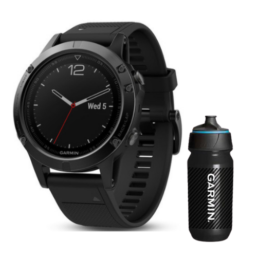 [INN03411] Combo SmartWatch Garmin Fenix 5 Zafiro + Botella Garmin Carbon 500 ML
