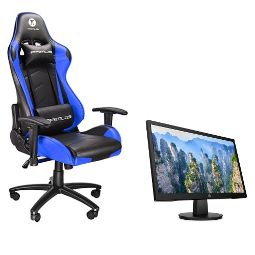 [INN03692] Combo Silla Primus Gaming 100T PCH-102BL + Monitor HP V22 - LED-backlit - 21.5""