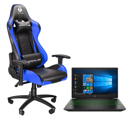Combo Silla Primus Gaming 100T PCH-102BL + Laptop HP Pavilion Gaming 15-DK0056WM 15.6""