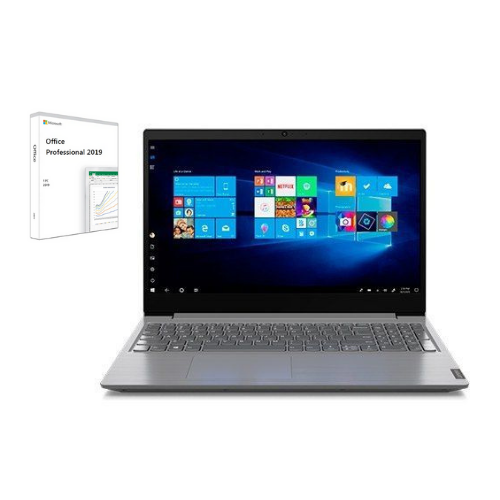 "[INN04417] Combo Laptop Lenovo V15 82C500LNGJ 15.6"" + Licencia Microsoft Office Professional 2019 1 PC"