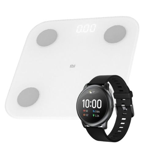 [INN04450] Combo Báscula Xiaomi Mi Body Composition Scale 2 + SmartWatch Xiaomi Haylou Solar LS05 44mm