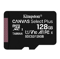 [INT4092] Kingston Canvas Select Plus - Tarjeta de memoria flash (adaptador microSDXC a SD Incluido) - 128 GB